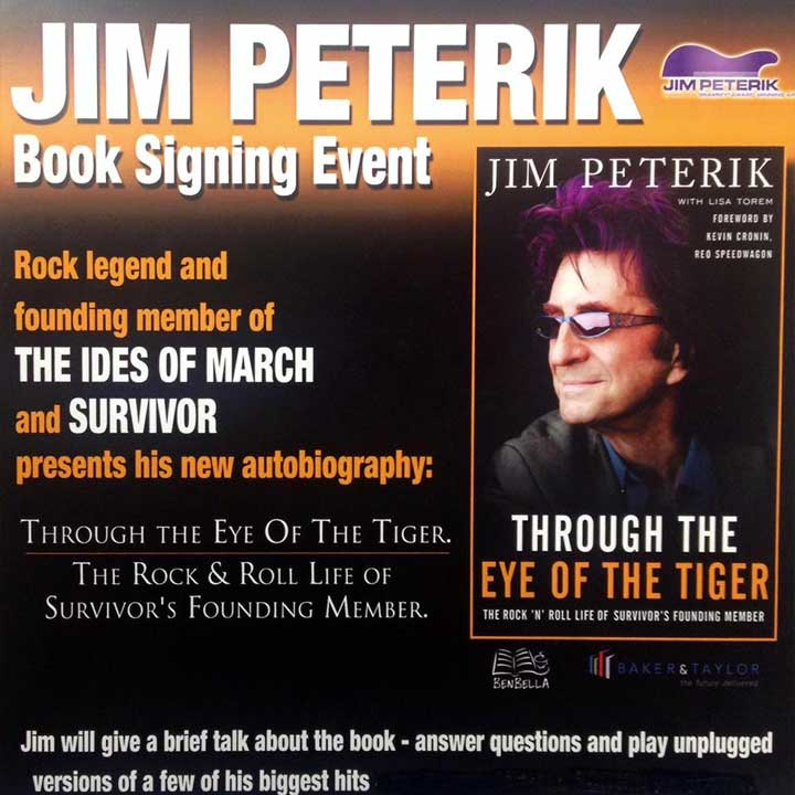 Jim Peterik Book Signing Event