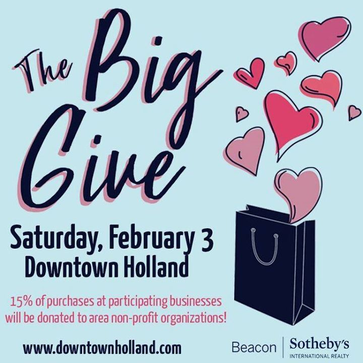 Hope to see you Saturday for The BIG GIVE!