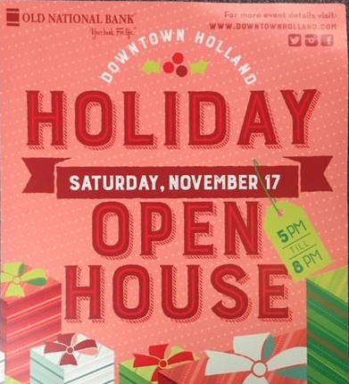 Come see us for the Downtown Holland Open House tonight...
